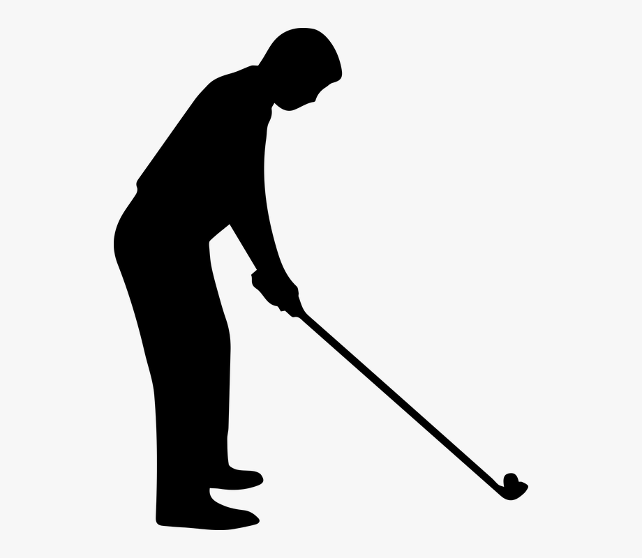 Golf clipart golf game. Activity sport black and