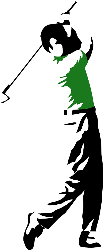 golfer clipart golf club