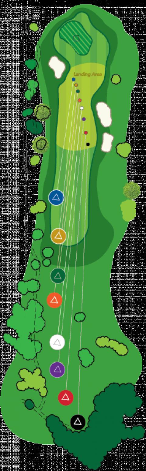 Forward tee yardages u. Golf clipart golf iron