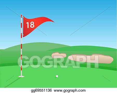 Stock illustration . Golf clipart golf scene