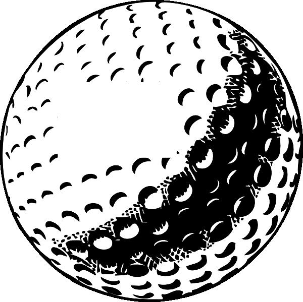Golfer clipart outline. Golf ball number a