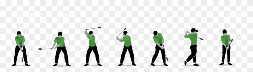 Golf clipart golf swing. Png freeuse silhouette