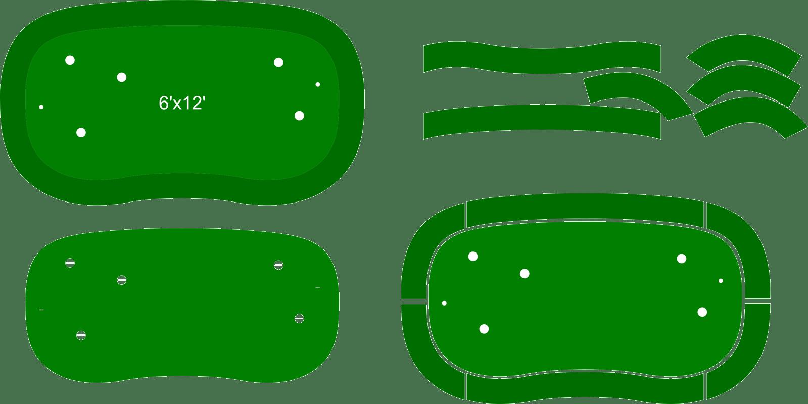 Golfing putting green