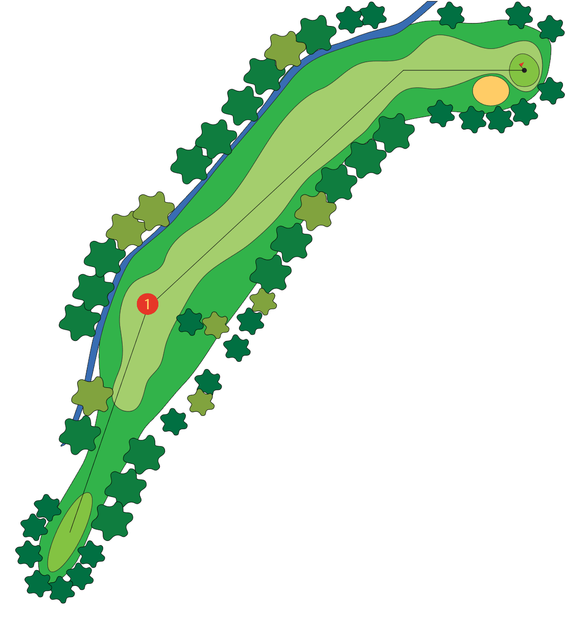 Golfing clipart hole in one. Course guide freeway golf