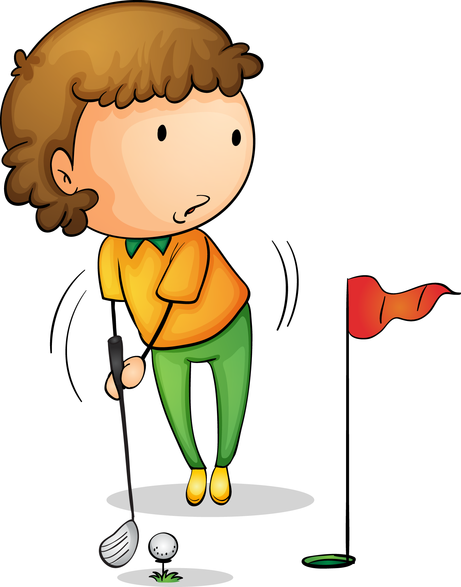 Golfing clipart child. Golf royalty free hole