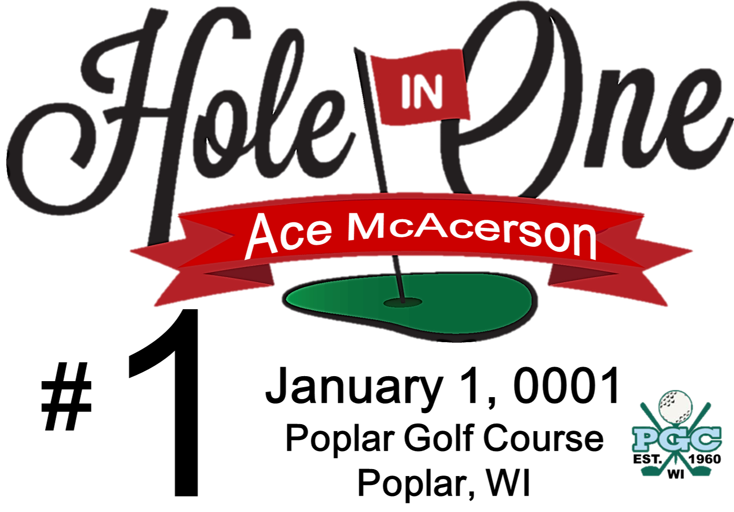 Club hio flag for. Golfing clipart hole in one