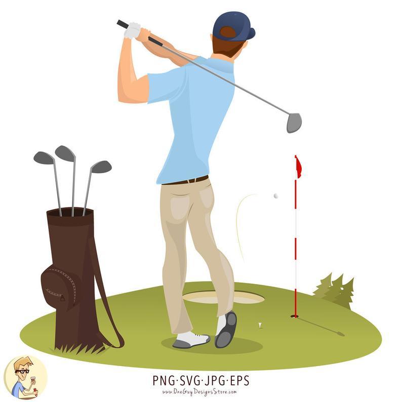 Golf clipart illustration, Golf illustration Transparent ...