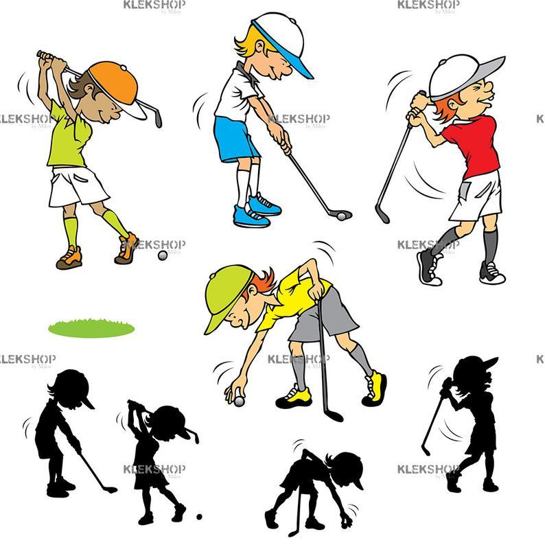 Golfer kids svg player. Golf clipart jpeg