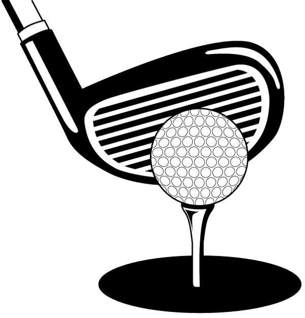 Clip art black and. Golf clipart jpeg
