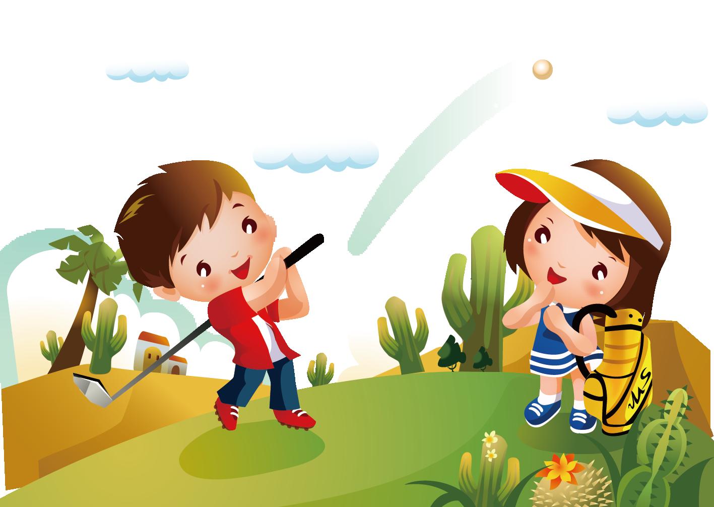 Golfing clipart child. Golf cartoon clip art