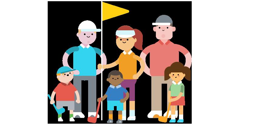 Golfing clipart child. Wee golf event meet