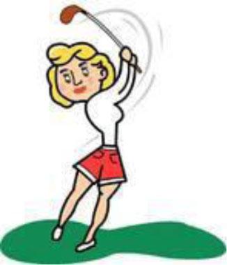 Free female golfer cliparts. Golf clipart lady golf