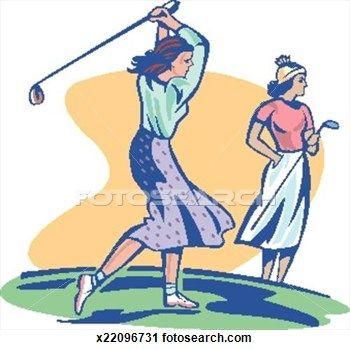Lady clip art women. Golfer clipart golf equipment