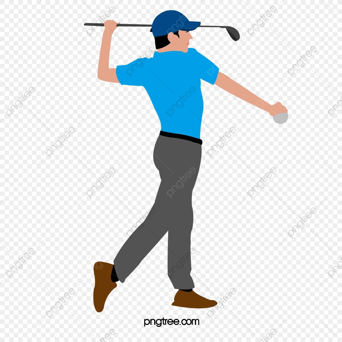 Mens golf movement png. Golfing clipart men's