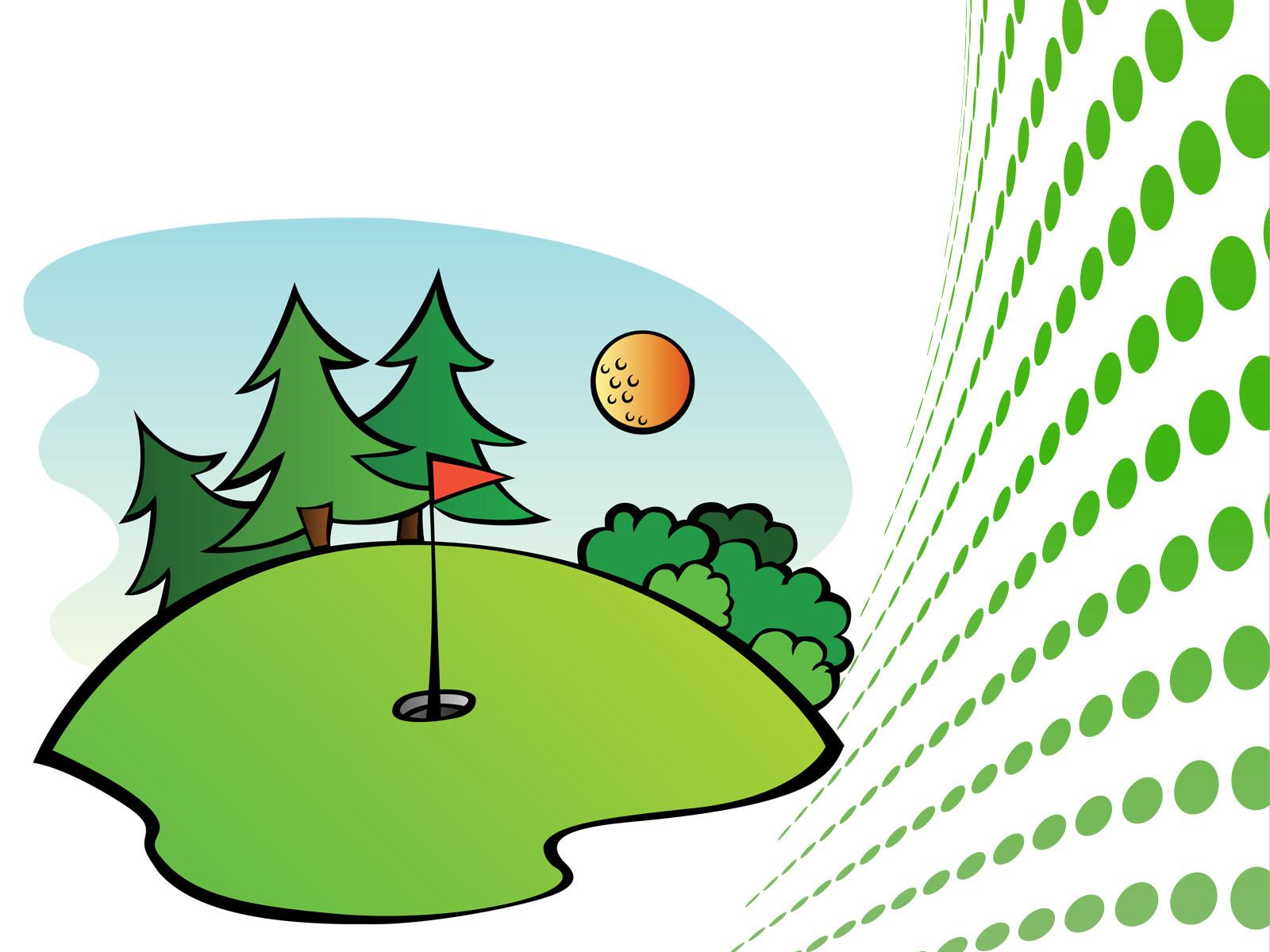 Free golfurse clip art. Golfing clipart golf field