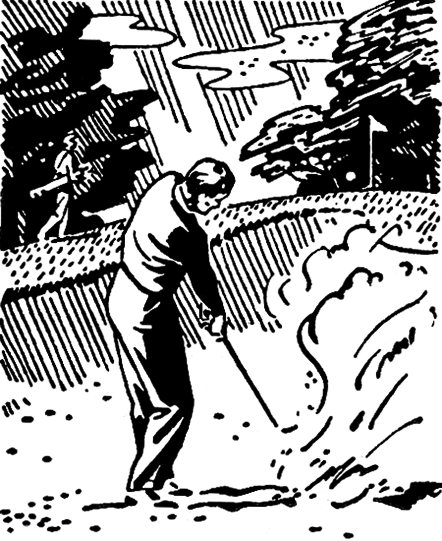 Golfer clipart retro. Golf images black and