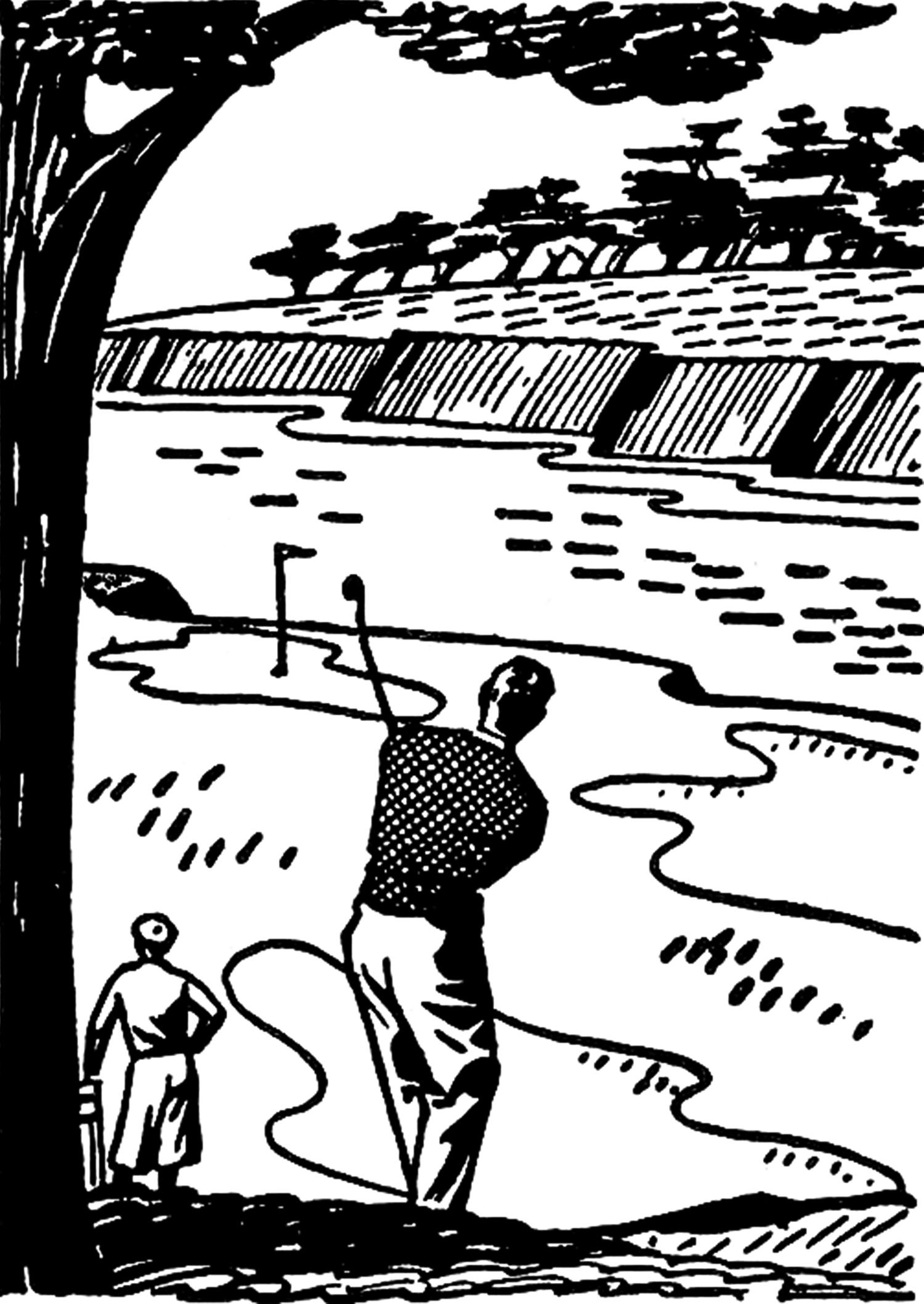 Golfer clipart black and white. Retro golf images clip