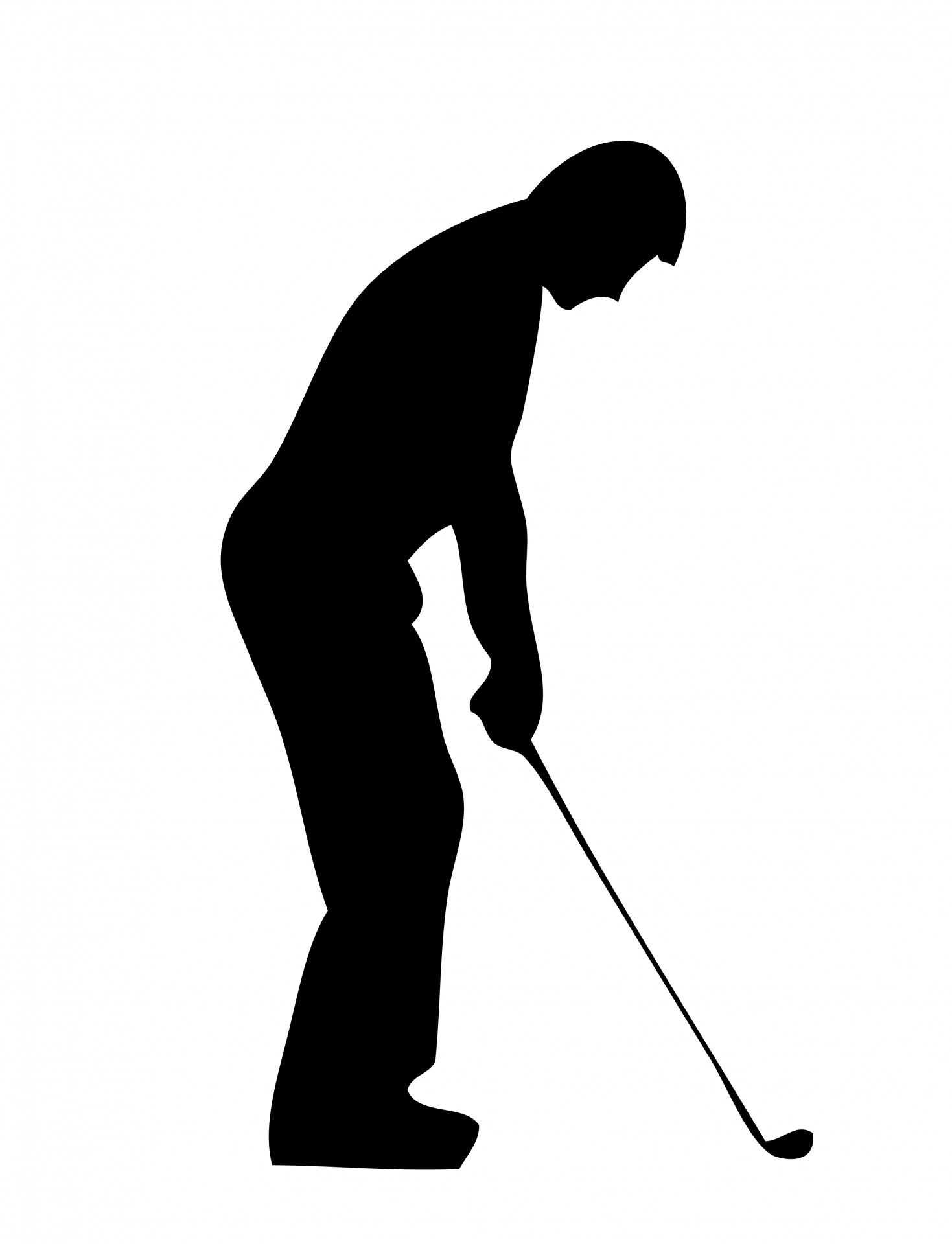 Golfer clipart outline. Free golf silhouette cliparts