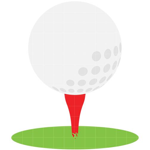 golf clipart tee