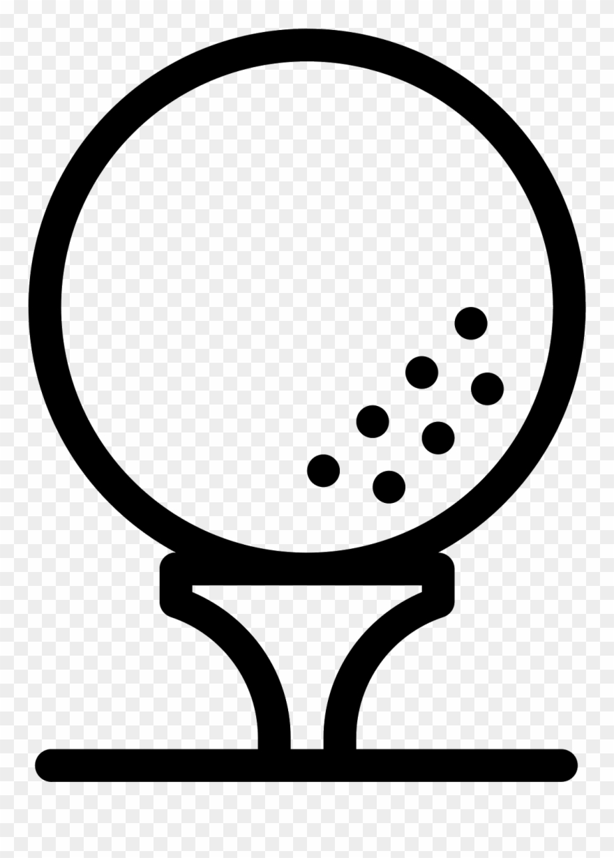 This is a ball. Golf clipart tee icon