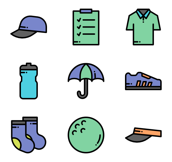 Icons free vector . Golf clipart tee icon