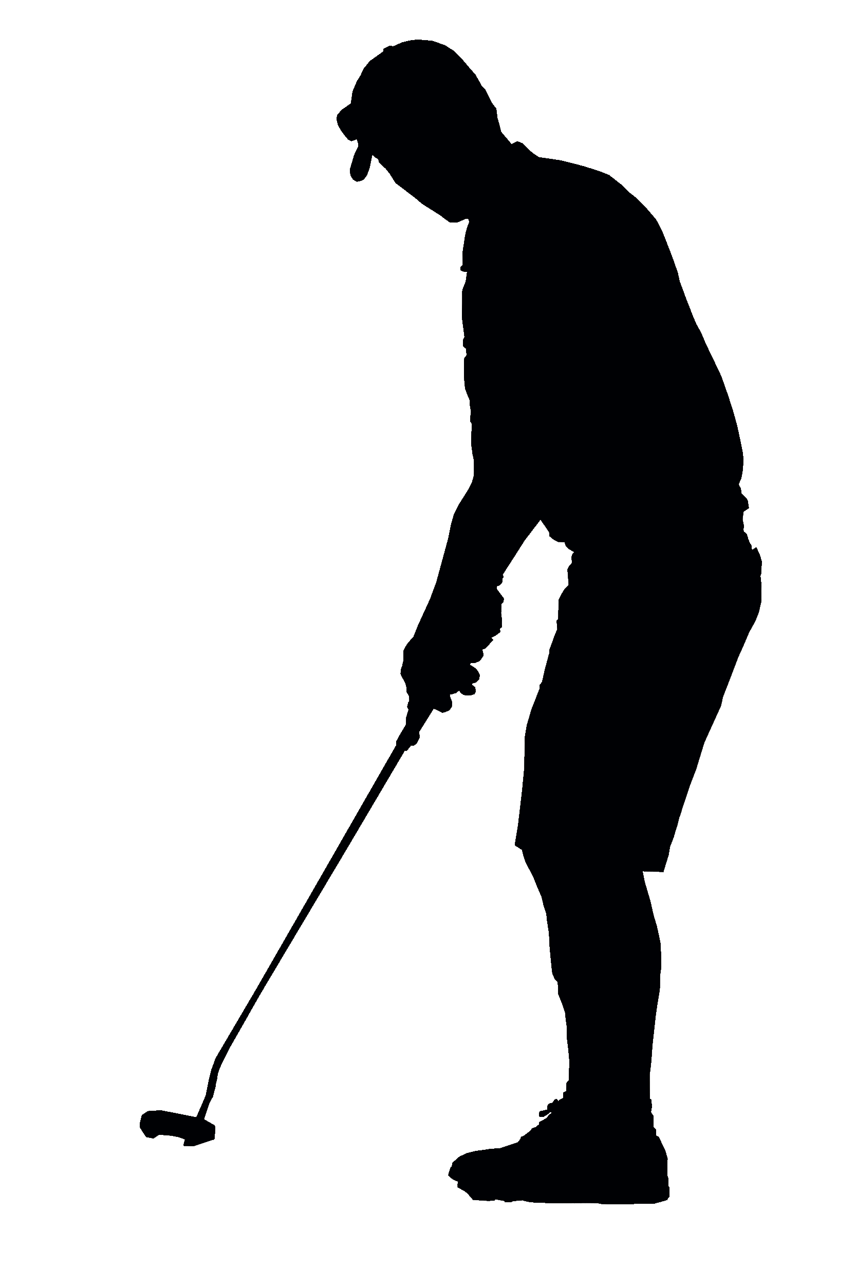 Swing silhouette at getdrawings. Golfer clipart men's