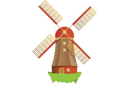 golfing clipart windmill