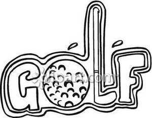 Golf clipart word. The with a ball