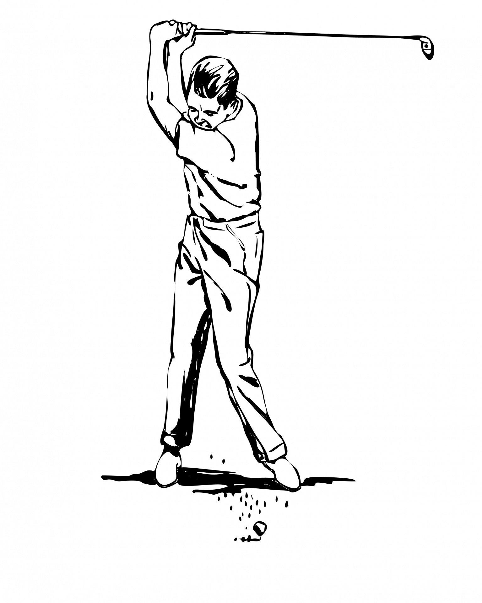Golfer clipart. Free stock photo public