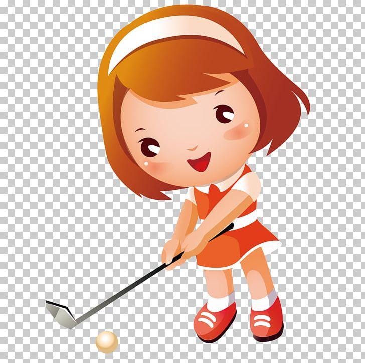 Golf girl png anime. Golfer clipart child