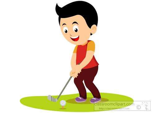 Golfer clipart child. Golfing free download best