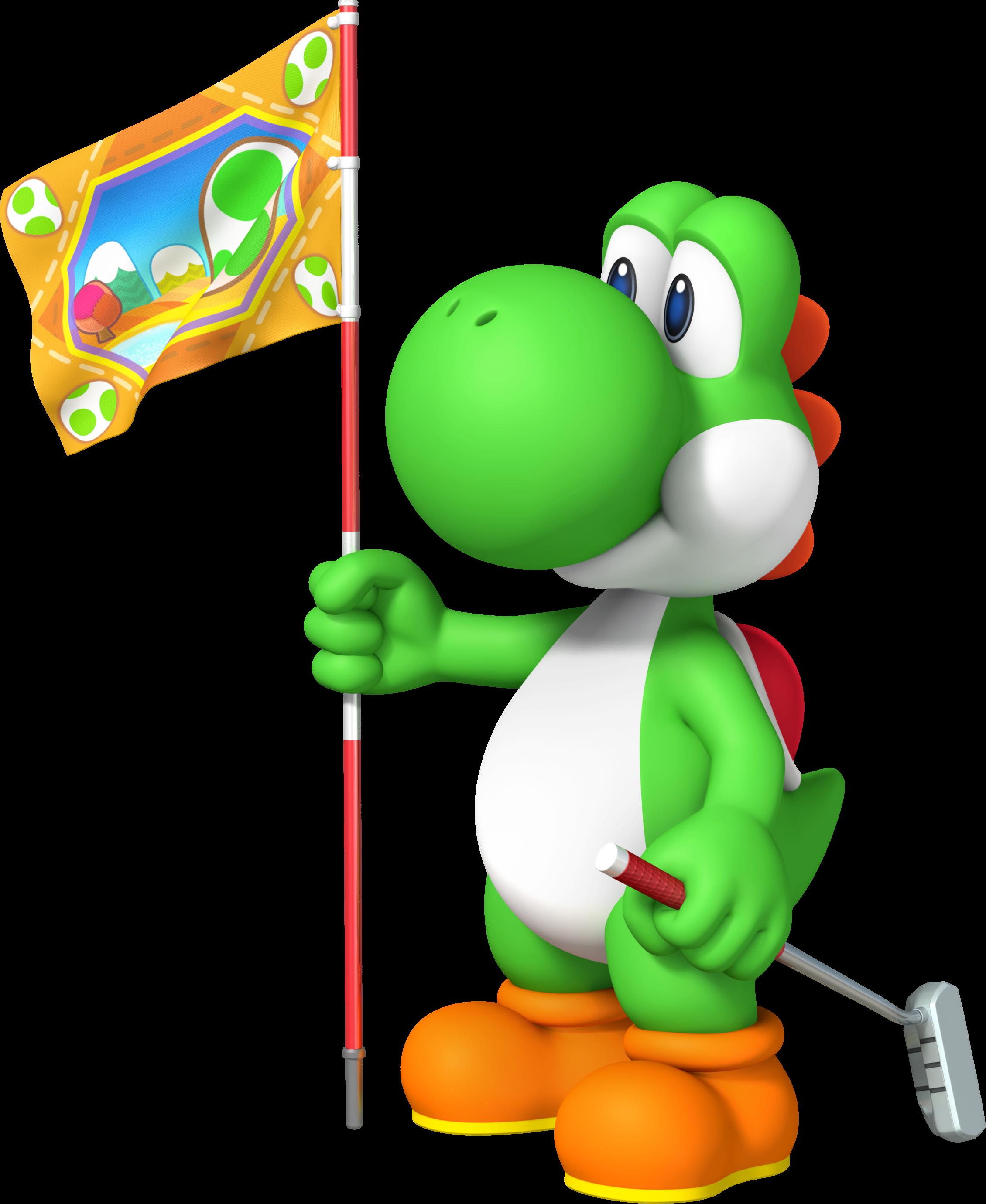 Image yoshi mario golf. Golfer clipart doom