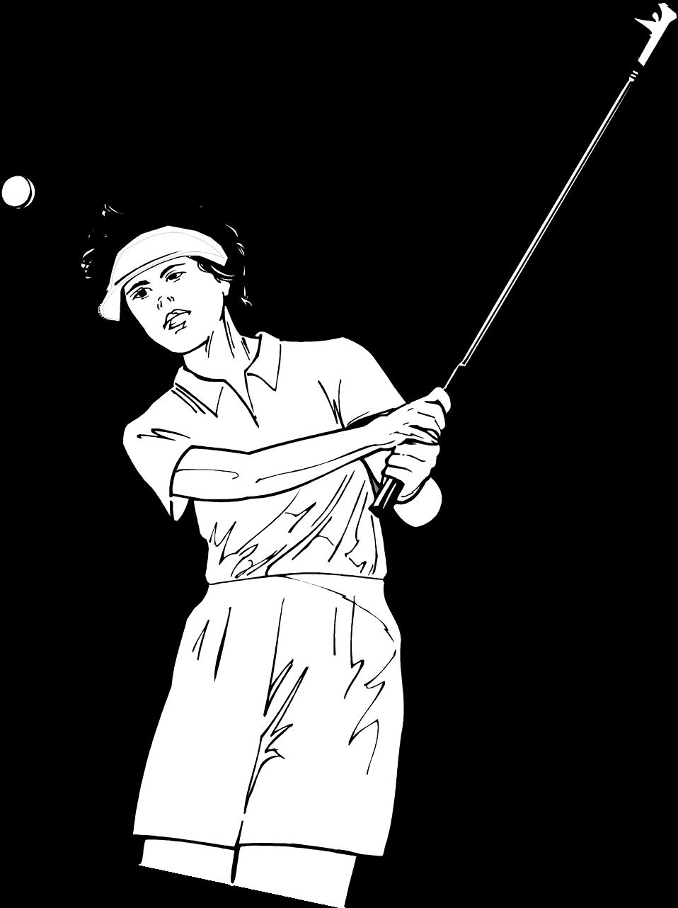 Golfer clipart female golfer. Golf woman free stock