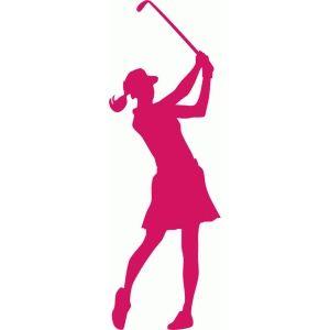 Silhouette golf fotos de. Golfer clipart female golfer