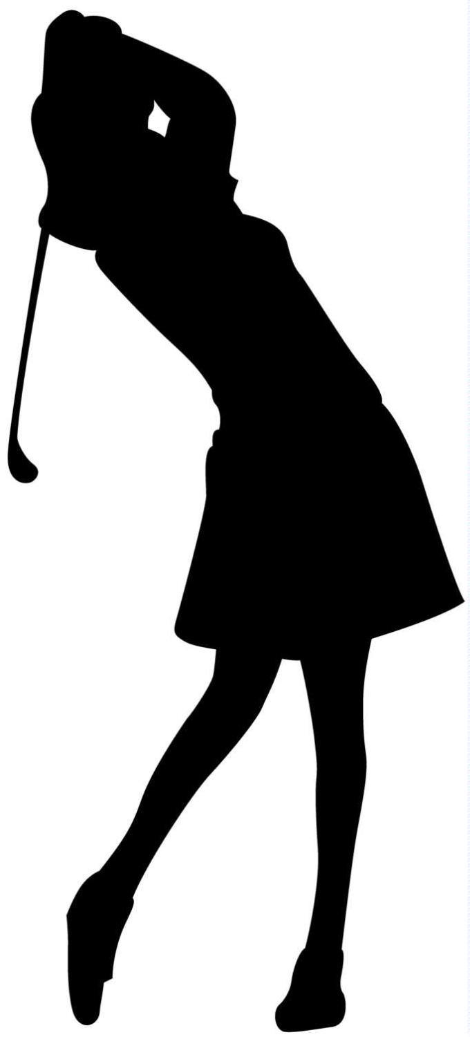 Free female golfer cliparts. Golfing clipart lady