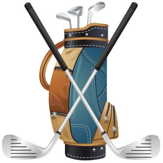 Golfer clipart golf bag. Free father s day