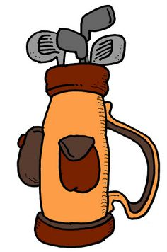 Golfer clipart golf bag. Free golfbag cliparts download