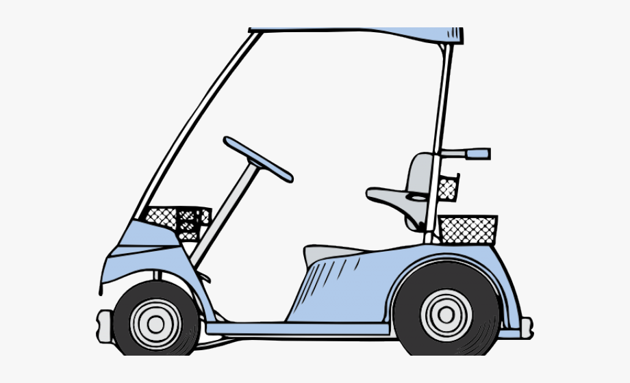 Golfer clipart golf buggy. Course cart