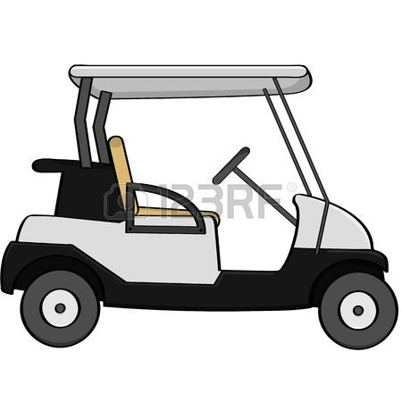 Stock vector projects to. Golfer clipart golf buggy