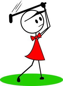 Golfer clipart golf club. Stick figure clip art