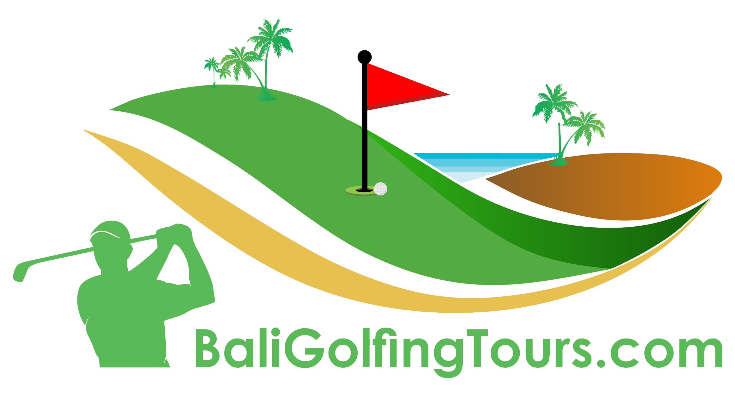 Golfer clipart golf green. Home bali golfing tours
