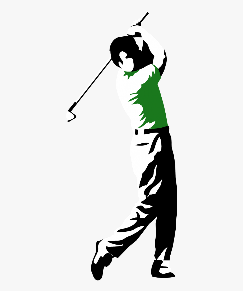 Golfer clipart golf player. Collection of man golfing