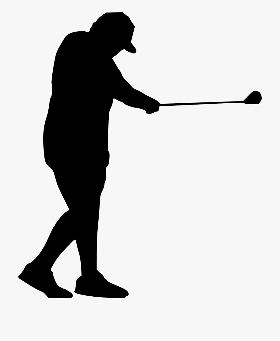 Swing golfer silhouette transparent. Golfing clipart golf scramble