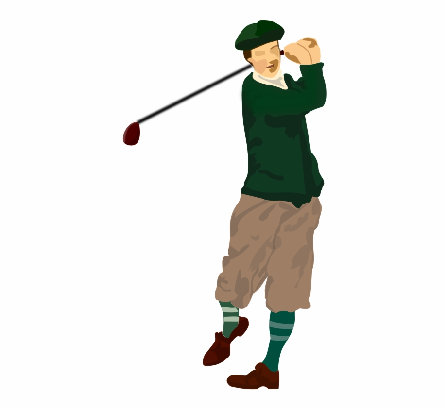 Golfer clipart male golfer. Swinging free png