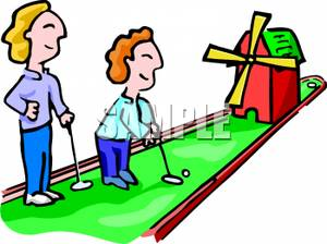 Golfer clipart mini golf course. Free download best on