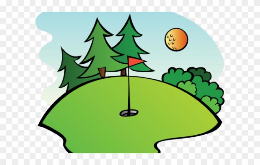 Golfer clipart mini golf course. Cartoon pinclipart