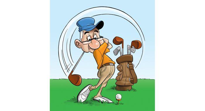 Golf clip art drawings. Golfer clipart pencil drawing