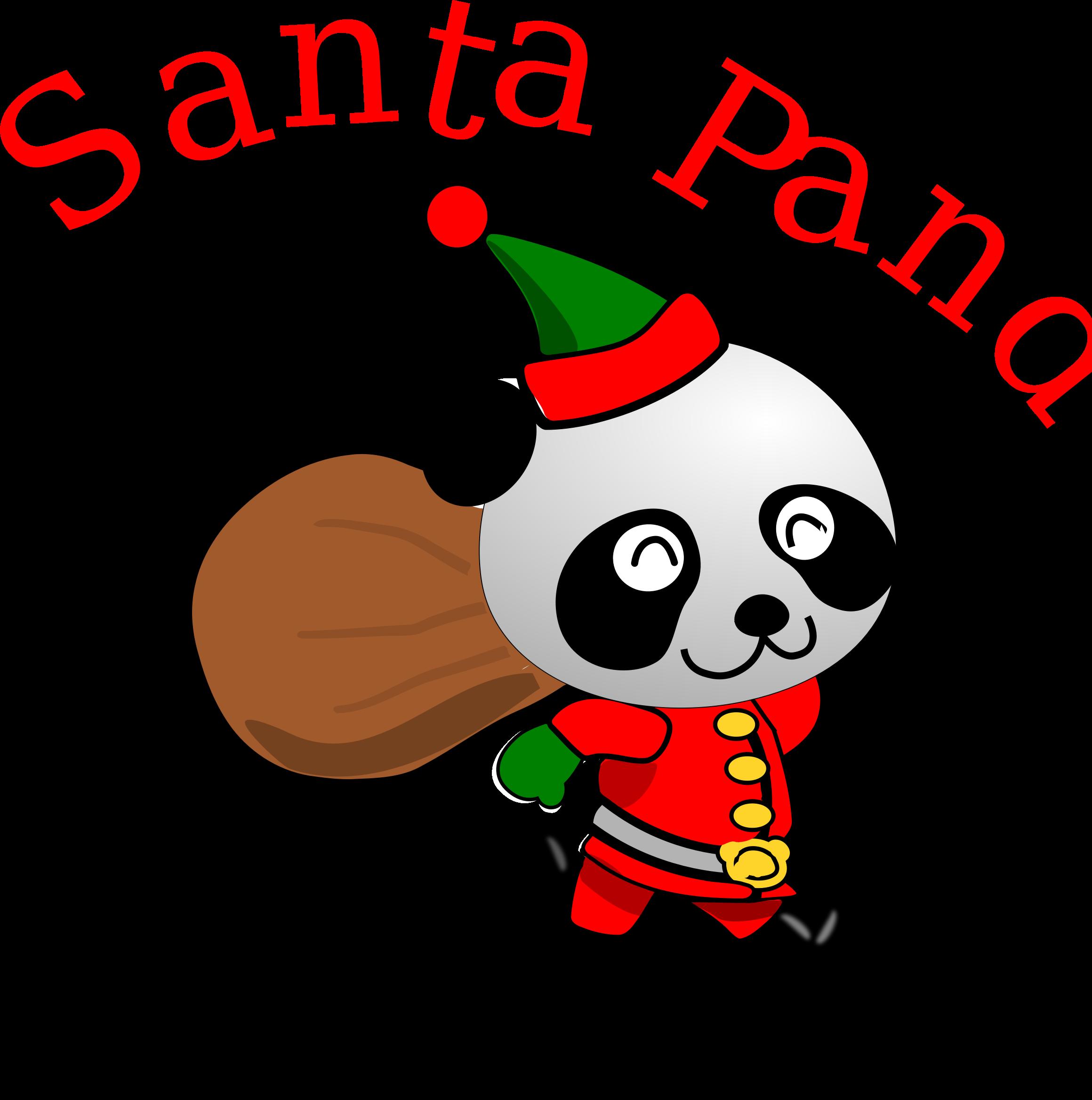 Panda icons png free. Golfer clipart santa