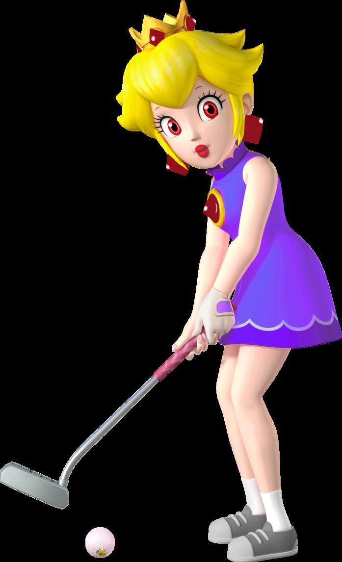 Golfer clipart shadow. Queen mario golf world