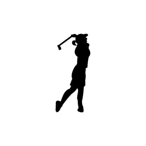 Golfer clipart shadow. Buy lady plan at
